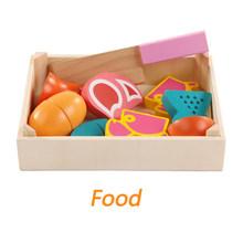 Bán Gỗ Đồ Chơi Nhà Bếp Cắt, Hoa Quả Chơi thu nhỏ Thực Phẩm Trẻ Em Bằng Gỗ cho bé Đầu giáo dục thực phẩm đồ chơi(China)