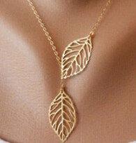 คือหดตัวเป็นโลหะ Double Leaf JOKER สร้อยคอสั้น clavicle เสื้อกันหนาวขายส่งผู้ผลิต(China)