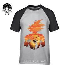 Goku мультфильм Dragon Ball взрослые хлопковые мужские рубашки с коротким рукавом 2019 горячая распродажа мужские футболки с коротким рукавом и кру...(China)