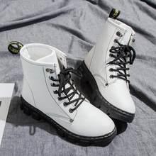 Moda kadın yarım çizmeler 2018 Yeni klasik Punk platformu Kadın botları sonbahar kış kar botları bayanlar Motosiklet botları(China)