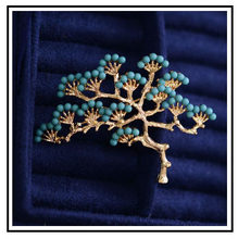 Huanzhi Vintage Warna Emas Burung Simulasi Mutiara Pohon Enamel Pin Menelan Merah Plum Bros UNTUK WANITA Perhiasan Aksesoris Hadiah(China)