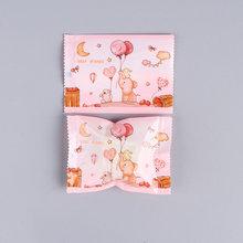 LBSISI Life 100 Uds bolsas de galletas dulces de boda sello térmico bolsa de embalaje de dulces tuerca copo de nieve DIY galletas para fiesta de cumpleaños 7*10cm(China)