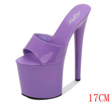 Model slipper 17cm-20cm-special stilettos with sexy, super-waterproof summer stilettos, party slippers(China)