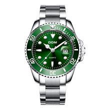 2019 marca de topo dom relógio masculino luxo 30m à prova dwaterproof água data relógio masculino esportes relógios quartzo relógio de pulso relogio masculino(China)