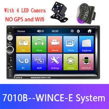 Podofo 2din Автомагнитола Android Mirrorlink Bluetooth gps Wifi FM Автомобильный мультимедийный MP5 плеер для Volkswagen Nissan hyundai Авторадио(China)
