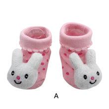 Karikatür yenidoğan bebek kız erkek kaymaz çorap terlik ayakkabı botları sıcak satış L500925(China)
