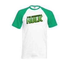 The Incredible HULK T-Shirt Bruce Banner Avengers Raglan T Shirt Casual Tops Tees Hip Hop 2020 Summer Cotton Streetwear(China)
