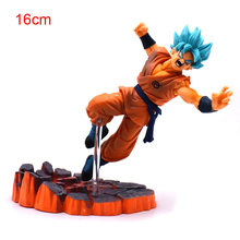 14-16 centímetros Anime Dragon Ball Z DBZ Frieza VS Son Goku PVC Action Figure Super Saiyan Goku Ouro frieza Brinquedo Modelo de Confronto(China)