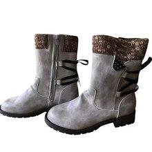 MCCKLE 2020 kadın kış orta buzağı çizmeler akın kış ayakkabı bayanlar moda kar botları ayakkabı uyluk yüksek süet sıcak botas kadın(China)