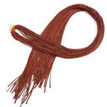 34 אינץ קולעת שיער צבעוני סינטטי זיזי תיבת צמות סרוגה שיער הארכת ורוד כחול לכתוב שחור סיבי 50g שיער אקספו עיר(China)