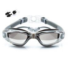 Zwembril Volwassen Oordopje Waterdicht Anti-Fog Bril Mannen Arena Water Swim Eyewear Siliconen Zwemmen Goggle Pak(China)
