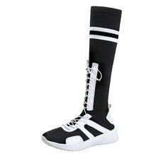 2020 frühling Herbst Mode Martin Stiefel Elastische Stoff Mischfarben Frauen Schuhe Frauen Warme Turnschuhe Schnee Stiefel Baumwolle Schuhe(China)