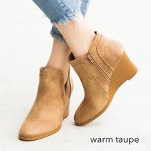 Herbst Stiefel Klassische Knöchel Echtem Leder Stiefel Winter Wildleder Slip-on Frauen Schuhe 35-43 Botas Mujer 2019 weibliche Stiefeletten(China)