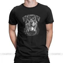 Rottweiler Lòng Trung Thành Với Trích Dẫn Chó Áo Thun Nam Ngắn Tay TEE O Cổ Nguyên Chất, Chất Liệu Cotton In Hình Áo Plus Kích Thước(China)