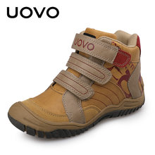 2019 UOVO חדש הגעה אמצע עגל בני נעלי אופנה ילדי ספורט נעלי מותג חיצוני ילדים מקרית נעלי ספורט גודל 26 #-36 #(China)