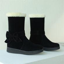FEDONAS 2020 kadın sonbahar kış kar botları daireler topuklar orta buzağı çizmeler kadın ucuz yüksek çizmeler rahat ayakkabılar kadın(China)