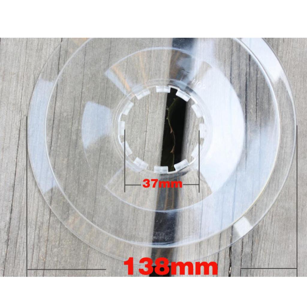 Bike Freewheel Cover Protector Wheel Spoke Disc Protection Clear 135//138//165mm