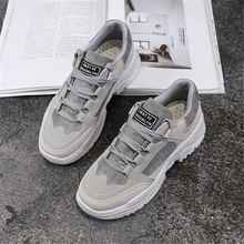 Kadın ayakkabı kış peluş kürk ayakkabı kadın Lace Up kadın botları Comrfortable kadın yürüyüş platformu tenis spor koşu ayakkabıları(China)