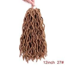 Элегантный MUSES Goddess Nu Locs, мягкие вязанные крючком волосы, косички, 12, 18 дюймов, faux Locs CURLY, синтетические волосы, предварительно петля, вязанные ...(China)