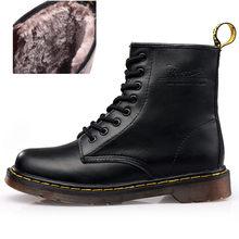 Botas de cuero de calidad superior para mujer, botas de nieve de marca, botas de invierno, zapatos cómodos y cálidos para mujer, Dr con caja ST324(China)