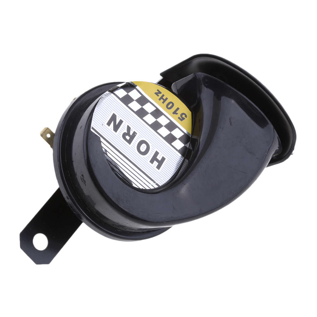 Universal Loud Electronic Air Horn For Motorcycle Auto Car Scooter Black