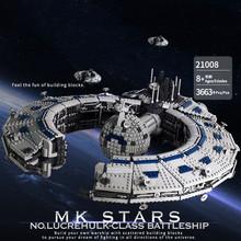 Legoins Lepins строительный блок Звездные войны серии MOC Разрушитель lucrehulk класс линкор Робот Контроль корабль сборка игрушка мальчик подарок(Китай)