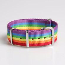 Donne uomini coppie Arcobaleno braccialetto della cinghia di nylon arcobaleno braccialetto amanti della tela di canapa meritano di agire il ruolo di cinghia braccialetto colorato(China)