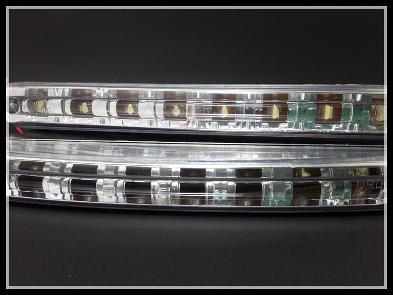 led drl feux de jour avant phare diurne eclairage voiture auto 8 led blanc xenon ebay. Black Bedroom Furniture Sets. Home Design Ideas