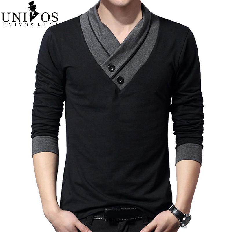 plus size 4xl 5xl t shirt men 39 s long sleeve shirts brand slim fit v. Black Bedroom Furniture Sets. Home Design Ideas