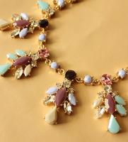 j-c-j / высокое качество / мята камень ожерелье