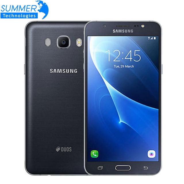 """Оригинальный Samsung Galaxy J7 J7108 (2016) Octa Ядро Dual SIM FDD/TDD LTE Мобильный Телефон 3 Г RAM 16 Г ROM 5.5 """"13.0MP NFC Сотовые Телефоны"""