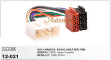 ISO standard HARNESS Radio Adapter for SUBAR U 1992+ RENAULT Traffic 2014+(China (Mainland))