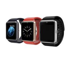 Переносные устройства смарт gt08 поддержка Sim карты часы синхронизации Notifier с Android телефон Bluetooth подключении iphone Smartwatch