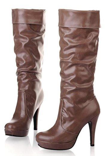 Free Shipping Knee Boots Winter Women Lady Half Fashion Sexy Shot