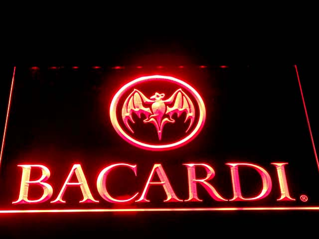 023 Bacardi LED Neon Signs with On/ Off Switch 7 colors sent in 24 hrs(China (Mainland))