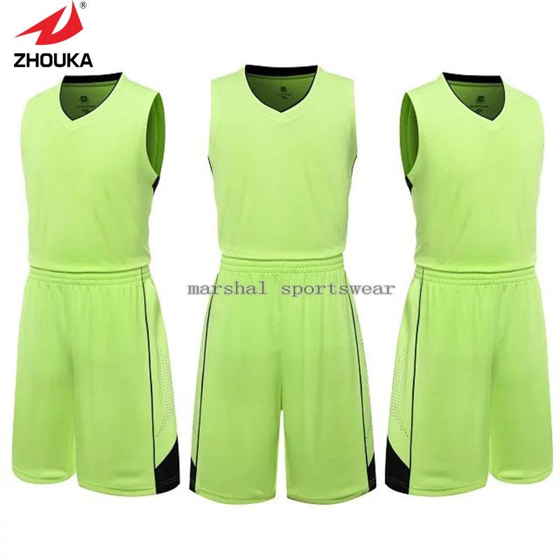 Zhouka Solid color light board Men's Basketball Jerseys Hot sale 100% polyester(China (Mainland))