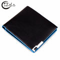Panelled Metal Angles Men Wallet W051 Ultra thin Concise Male Purse Short Handbags Panelled Metal Angles