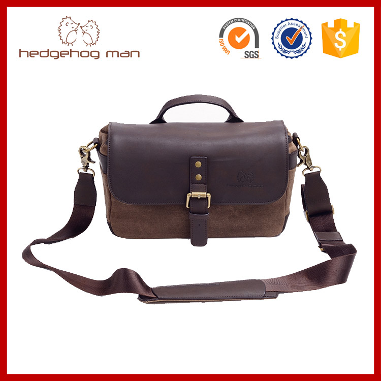 Micro SLR Bags / Leather Camera Bags Waxy Precision Canvas + First Layer Leather Shoulder Series(China (Mainland))