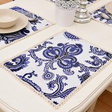 4pcs/lot 30x40cm Rectangle Table Dinner Mat Home Textile Dining Mat Bowl Pads Kitchen Accessories