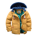 4 colors 2016 winter children boys down jacket coat fashion hooded thick solid warm coat boy