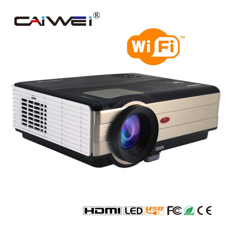 Caiwei Digital Led Projector Home Theater Beamer Lcd: CAIWEI A8(A) Wireless WIFI LED Projector Support Full HD