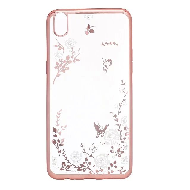 Soft TPU Bling Diamond Flower Phone Cases for OPPO R9 Clear Covers Silicone Slim Colorful Protection Frame Accessories(China (Mainland))