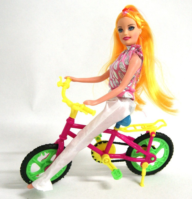 Free Transport,Woman birthday classic reward bike equipment for Barbie doll