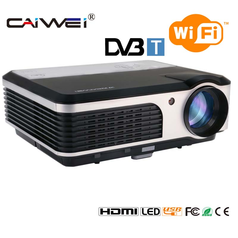 Caiwei Home Use Dvb T2 Projector Led Lcd Digital Tv: CAIWEI A5(AD) DVB T WIFI LED Projector 3800 Lumens Full HD