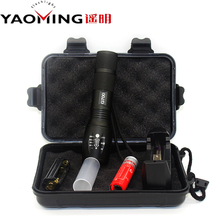 G700 LED flashlights set cree T6 2000LM zoomable tactical flashlight linternas by 1*18650 rechargeable battery /3*AAA torch lamp(China (Mainland))
