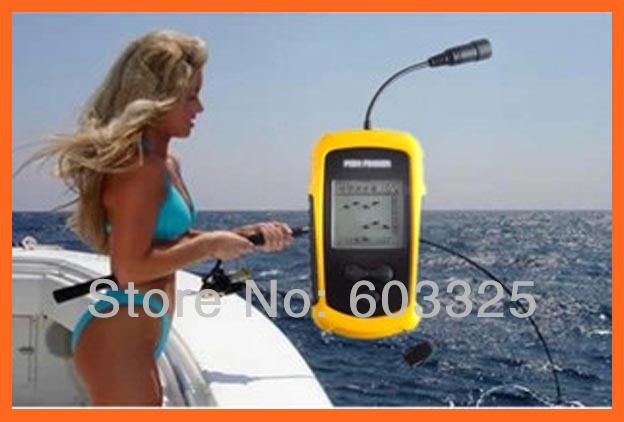 Portable sonar lcd fish depth finderalarm 100m ap fishing for Utah fish finder