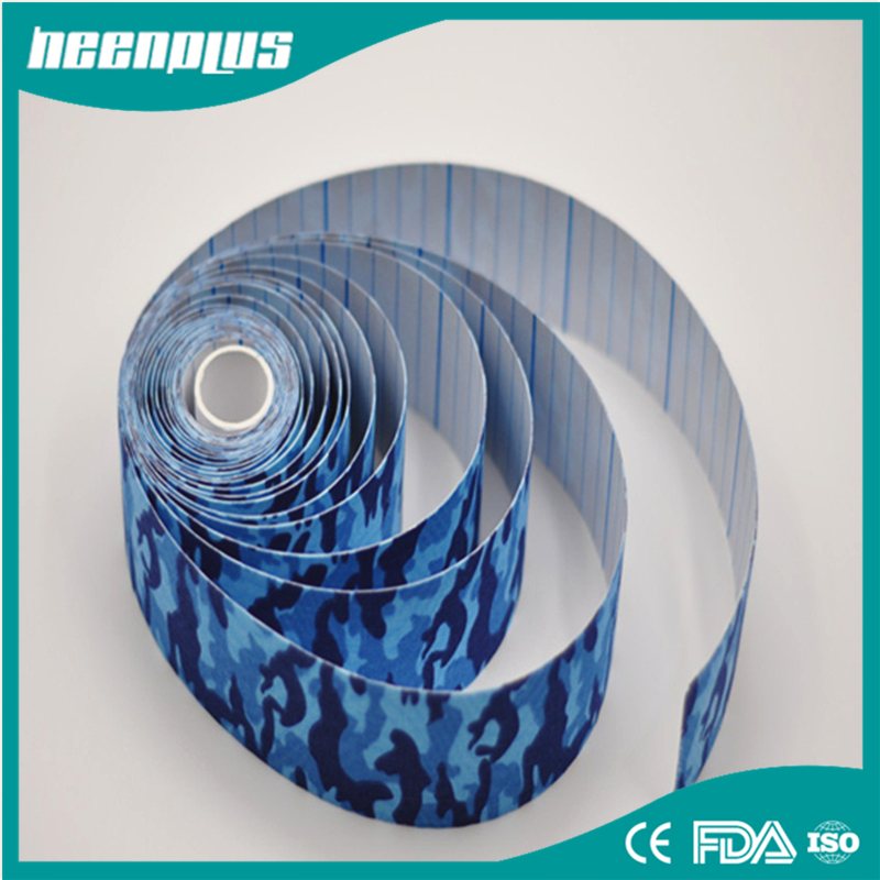 6 rolls Swimming Kinesiology Tape 5cm x 5m Roll Cotton Elastic Adhesive Muscle Sports Tape Bandage Physio Strain Injury Support(China (Mainland))