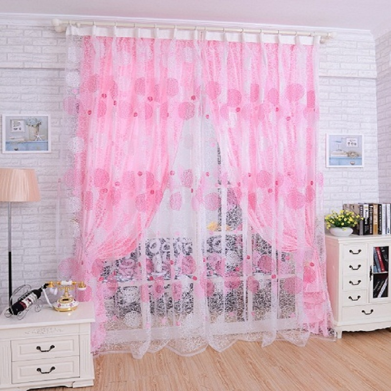 curtain modern voile treatments print curtain yarn drape for kitchen