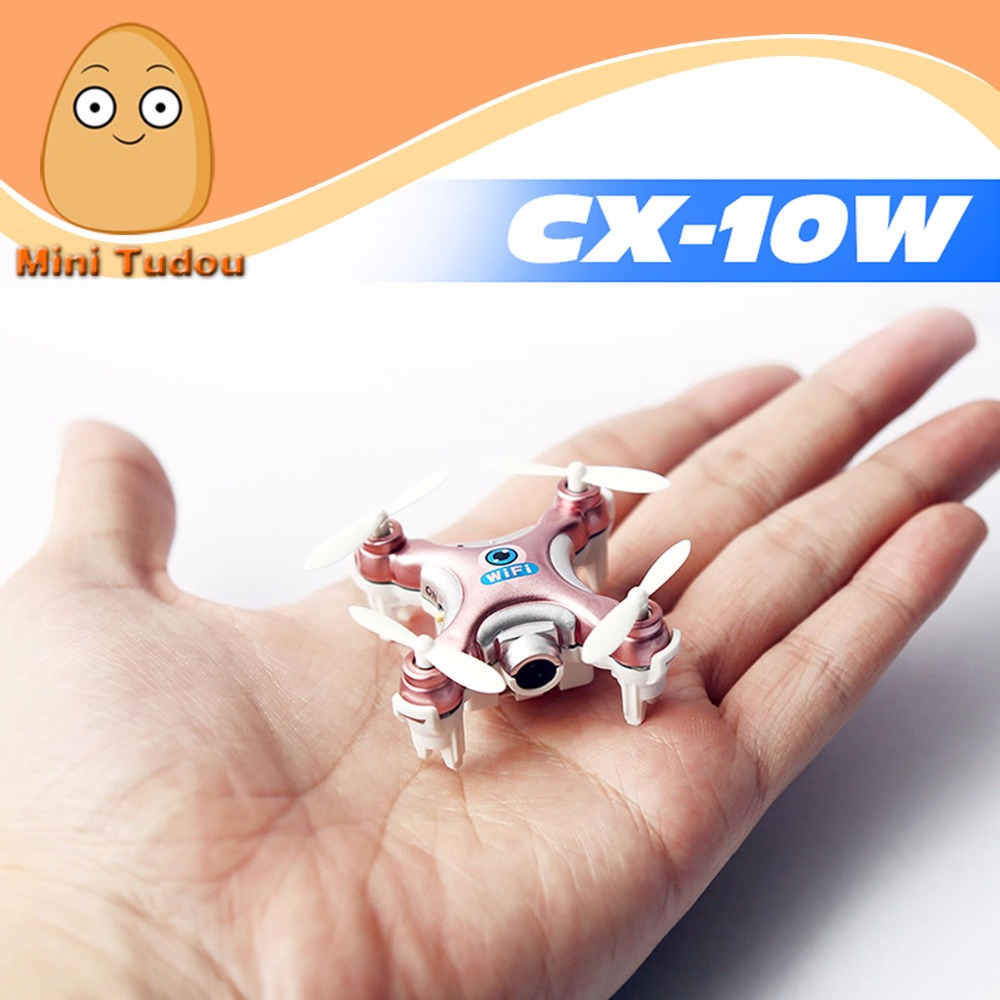 Minitudou 2016 New Mini Remote Control Helicopter Cheerson CX-10W RC Quadrocopter With Camera Mini Drones Cheerson CX-10C FPV(China (Mainland))