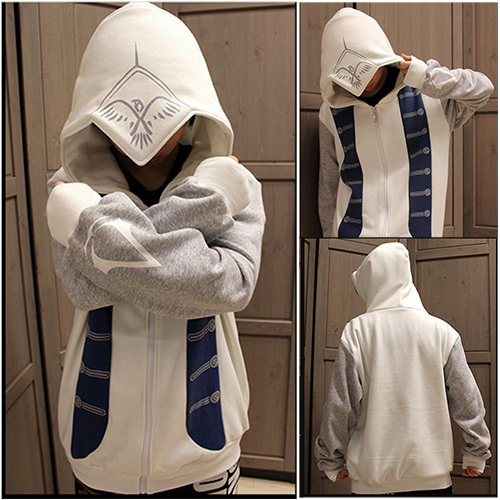 40 40 New Assassins Creed III 40 Connor Hoodie Cosplay Costume Custom Assassin's Creed Hood Pattern